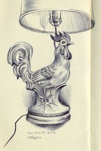 rooster drawing
