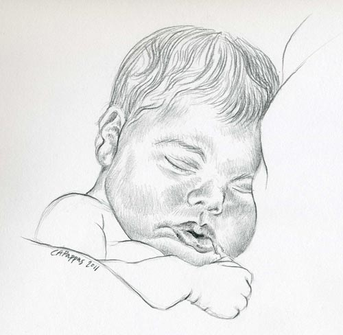 baby sketch