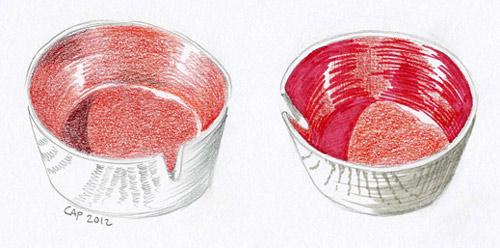 red ashtrays