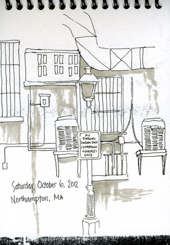 northampton ma ink sketch
