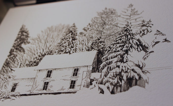 pen and ink winter